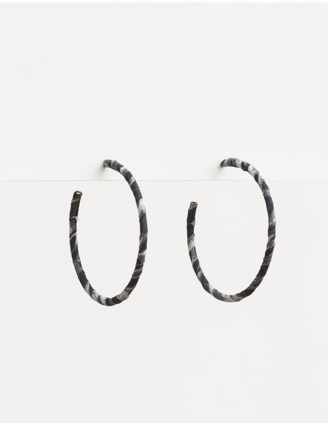 Stella & Gemma Fabric Hoop Leopard Earrings