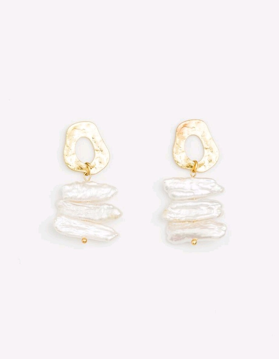 Stella & Gemma Pearl Ladder Earrings
