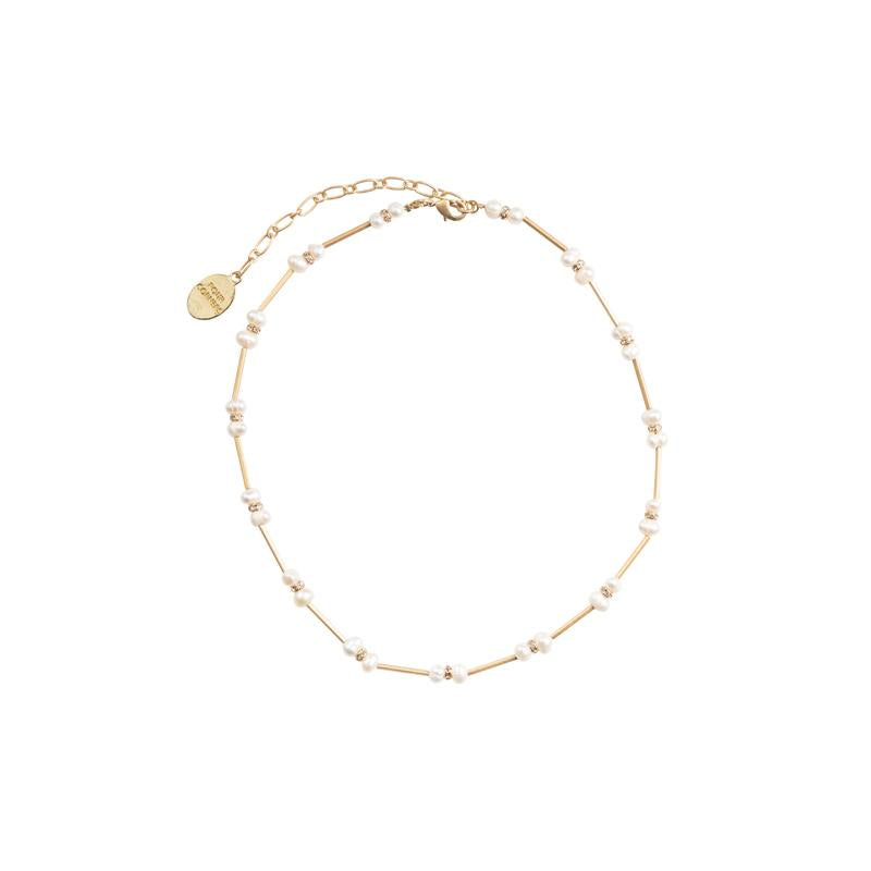 Four Corners Modern Pearl Necklace