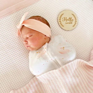 Living Textiles Zip Up Smart Swaddle in Swan Princess