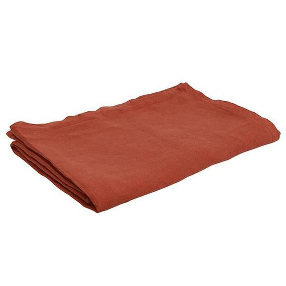 French Country Everyday Linen Tablecloth in Rust