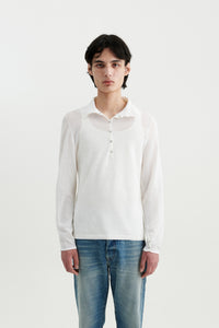 Sailor paper knit polo Optic white