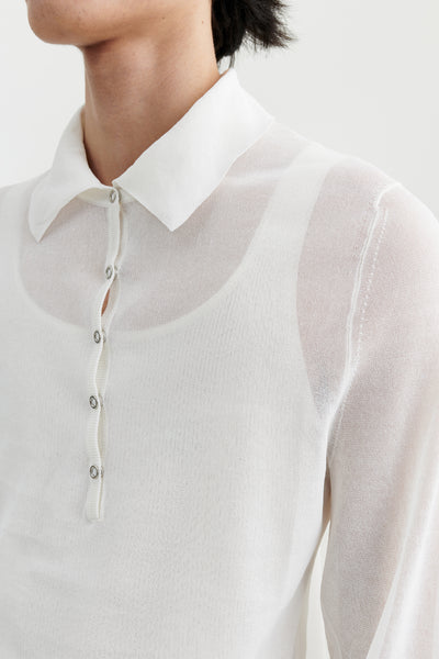 Load image into Gallery viewer, Sailor paper knit polo Optic white