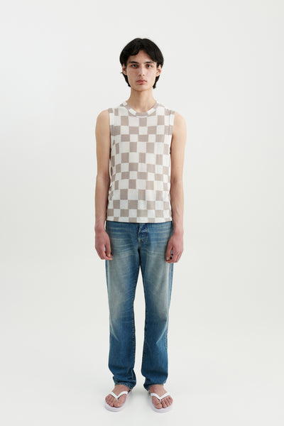 Load image into Gallery viewer, Mia silk checkerboard top Fairchild