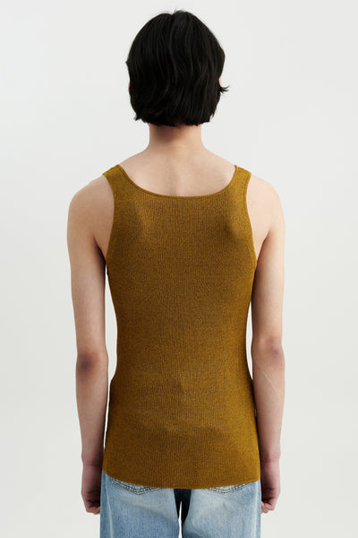 Load image into Gallery viewer, Liza silk tank Gold