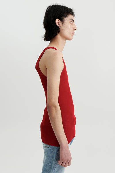 Load image into Gallery viewer, Liza silk tank Red