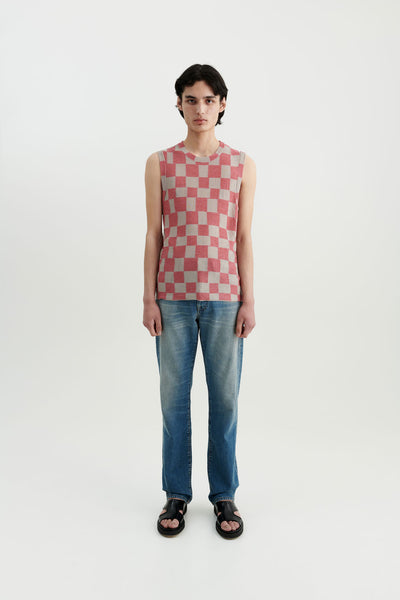Load image into Gallery viewer, Mia silk checkerboard top Berlin