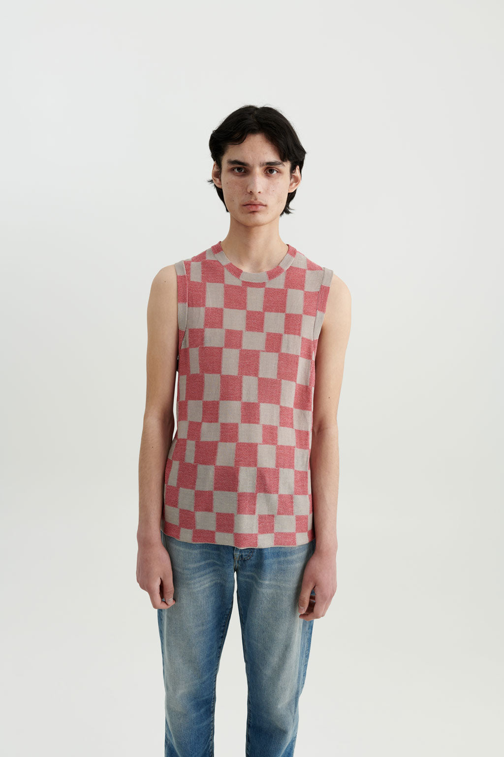 Mia silk checkerboard top Berlin