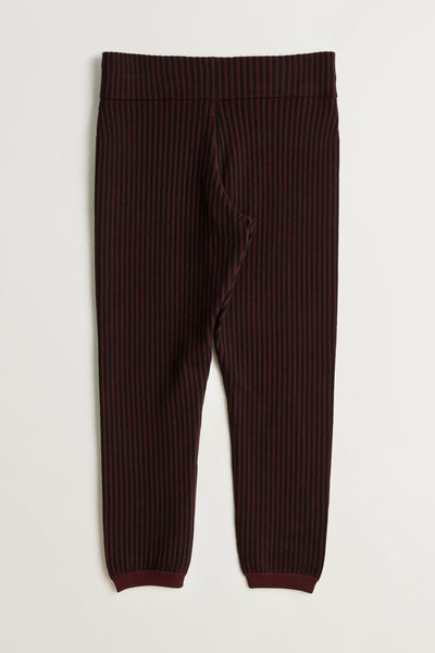 Load image into Gallery viewer, Mazzy jogger Burgundy stripe