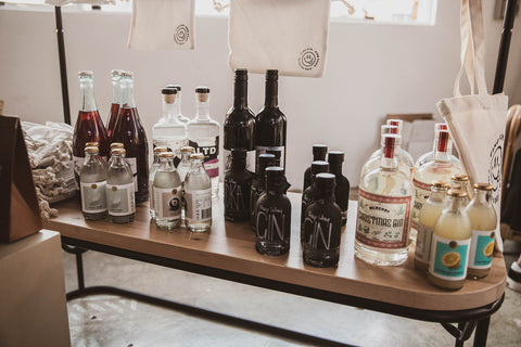 Collection of alcohol like wine that pairs well with handmade chocolate