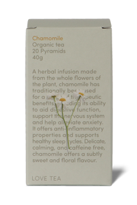 Chamomile pyramid tea bags by Love Tea