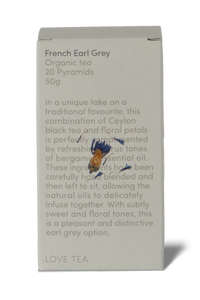 French earl grey pyramid tea bags by Love Tea