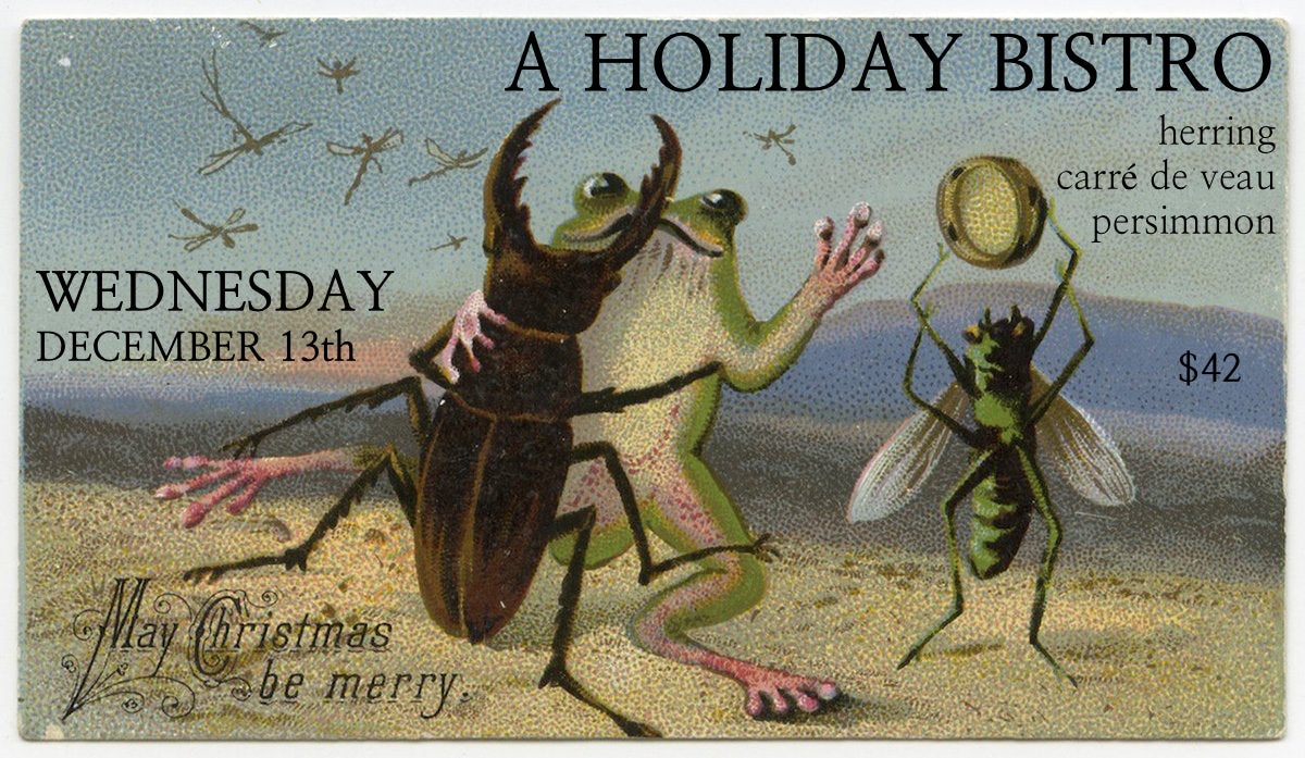 HOLIDAY BISTRO this Wednesday