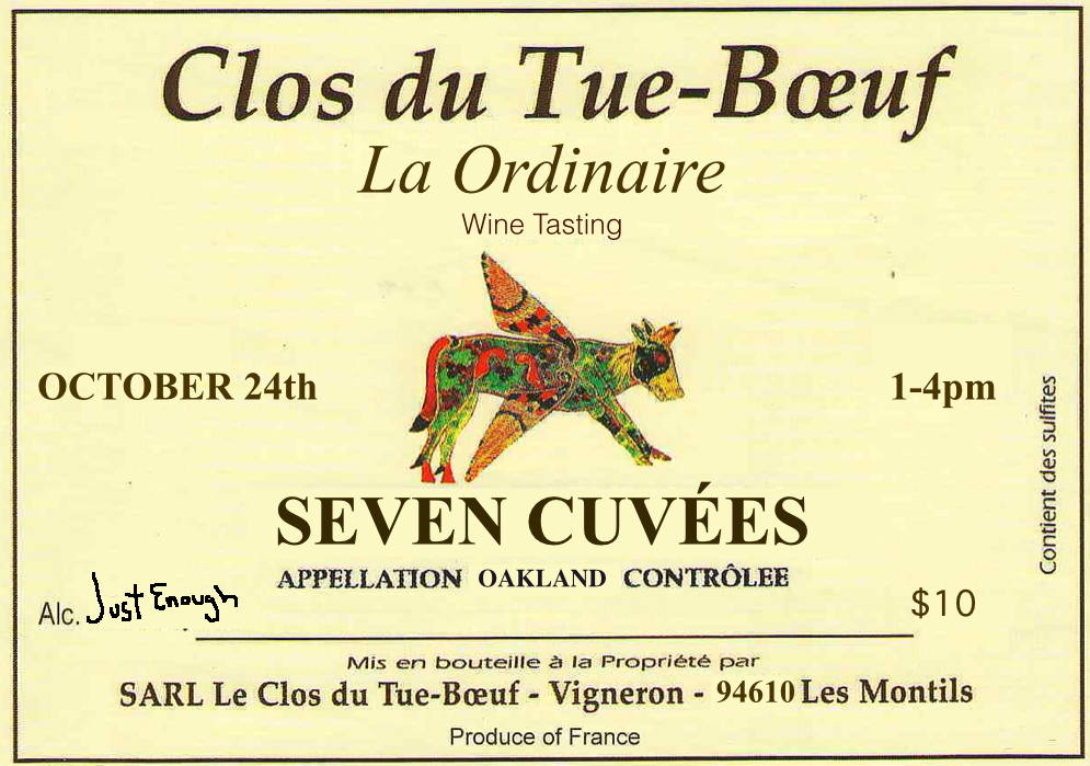 Clos du Tue-Boeuf, Oct 24th, 1-4pm