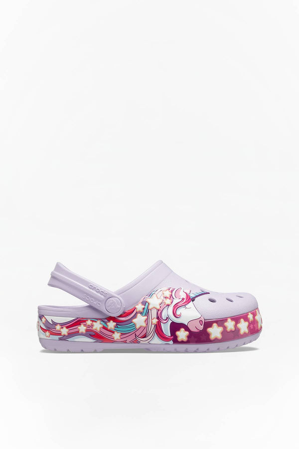 #00100  Crocs încălțăminte, papuci FUN LAB UNICORN BAND CLOG KIDS 206270 LAVENDER