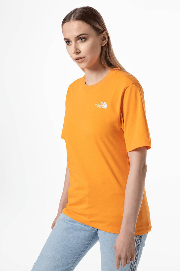 #00034  The North Face tricou W BOYFRIEND SIMPLE DOME ECL ORANGE