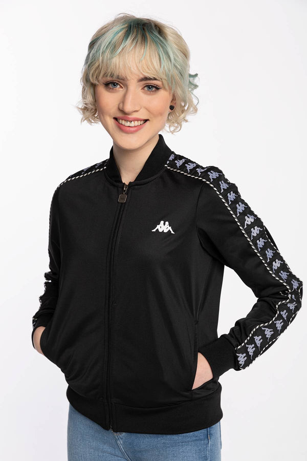 #00000  Kappa îmbrăcăminte, bluză BLUZA ZAPINANA IMILIA Wo Training Jacket, Regular Fit 309072 19-4006 BLACK