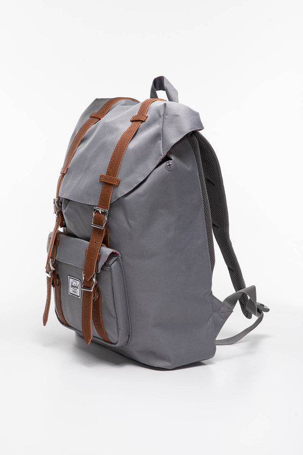 #00007  Herschel genți și rucsacuri, rucsac Plecak 17 L Herschel Little America Mid-Volume  Synthetic Leather 10020-00006 GREY TAN