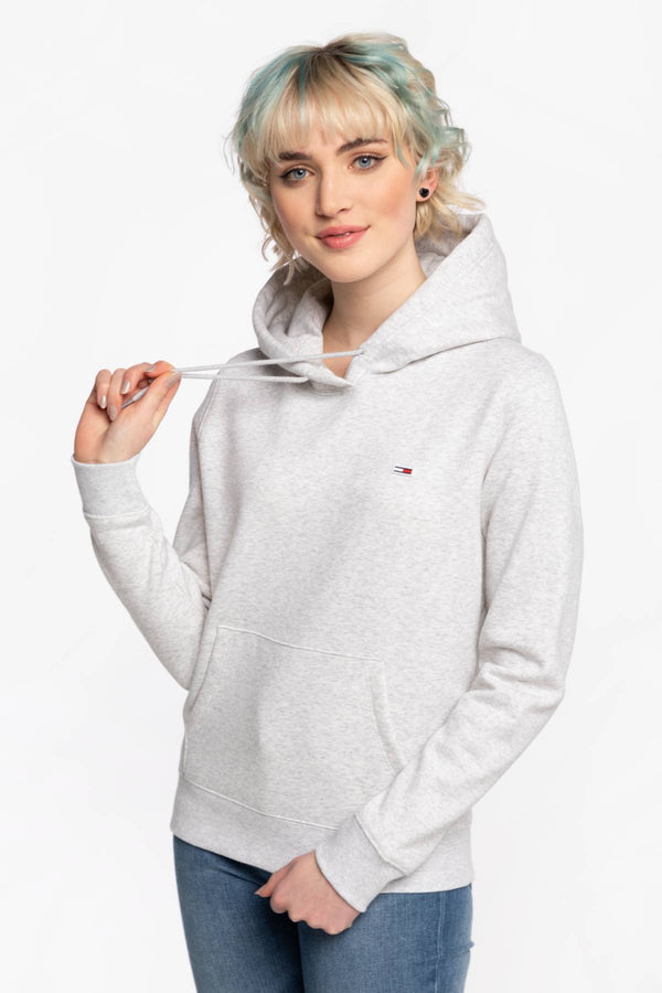 #00033  Tommy Jeans îmbrăcăminte, bluză BLUZA Z KAPTUREM TJW REGULAR FLEECE HOODIE DW0DW09228PJ4 LIGHT GREY