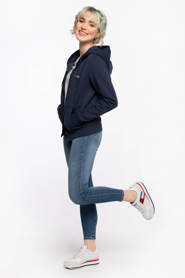 #00043  Tommy Jeans îmbrăcăminte, bluză BLUZA TJW REGULAR HOODIE ZIP THROUGH DW0DW10135C87 BLUE
