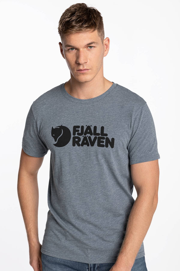 #00017  Fjallraven tricou Logo T-shirt M F87310-520-999 UNCLE BLUE-MELANGE