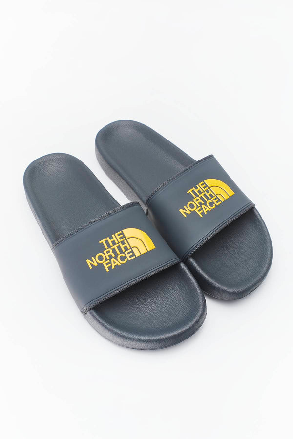 #00018  The North Face încălțăminte, papuci M BASE CAMP SLIDE II 090 DARK SHADOW GREY/TNF YELLOW