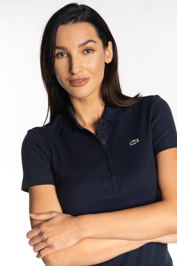 #00006  Lacoste tricou WOMEN POLO 166 NAVY