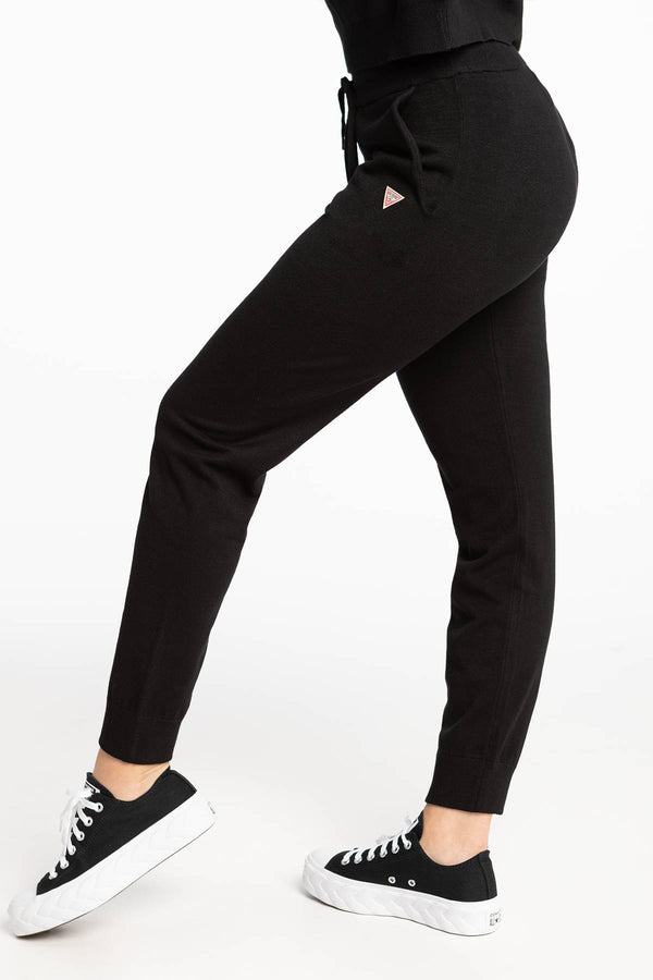 #00057  Guess îmbrăcăminte, pantaloni BASIC SWEATER PANT 6I0 BLACK