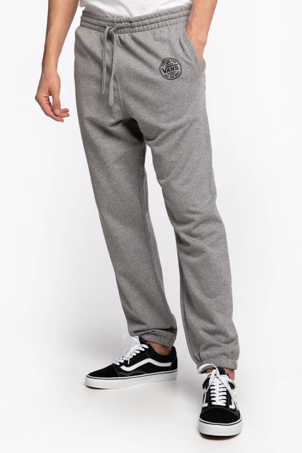 #00070  Vans îmbrăcăminte, pantaloni SPODNIE MN LOGO UP FLEECE PA Cement Heather VN0A54DR02F1 GREY