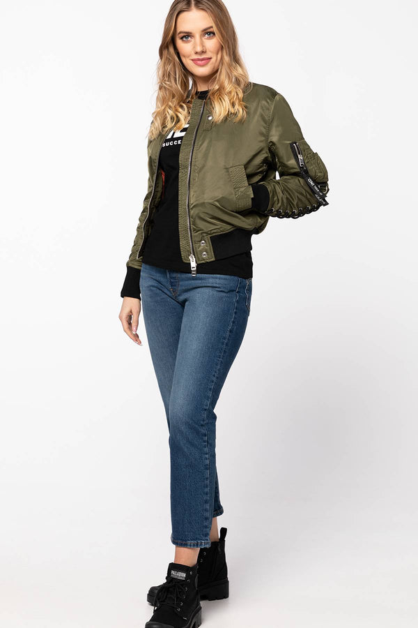 #00091  Diesel îmbrăcăminte, geacă W-SWING GIACCA A00835 0KAUX-51F MILITARY GREEN
