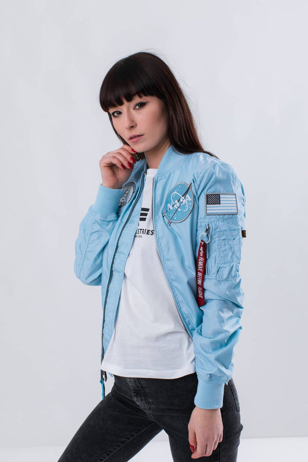 #00086  Alpha Industries îmbrăcăminte, geacă MA-1 TT NASA REVERSIBLE WMN 398 AIR BLUE