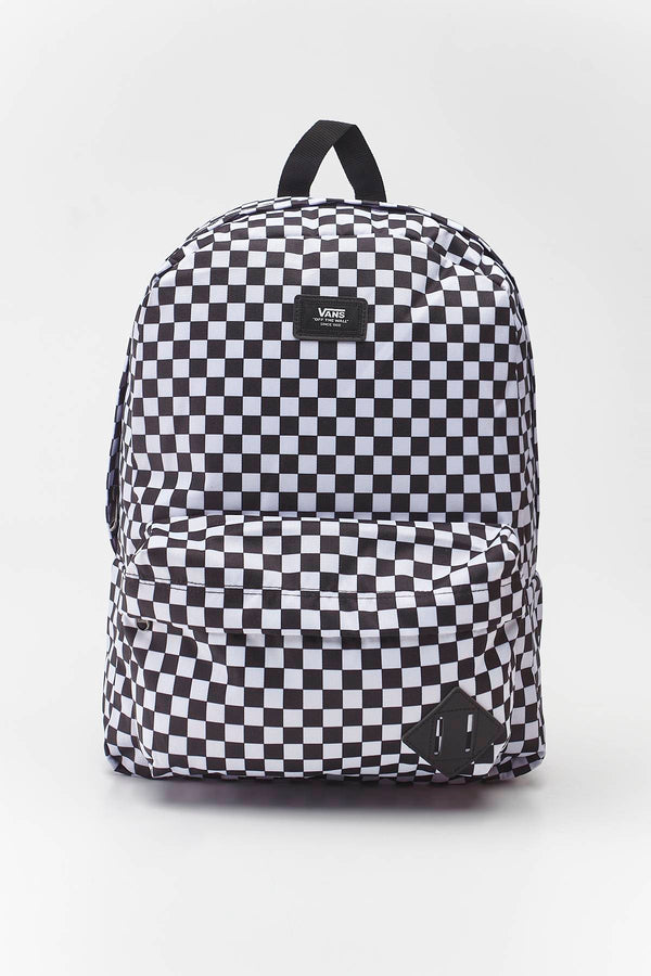 #00032  Vans genți și rucsacuri, rucsac OLD SKOOL III BACKPACK HU0 BLACK/WHITE CHECKERBOARD