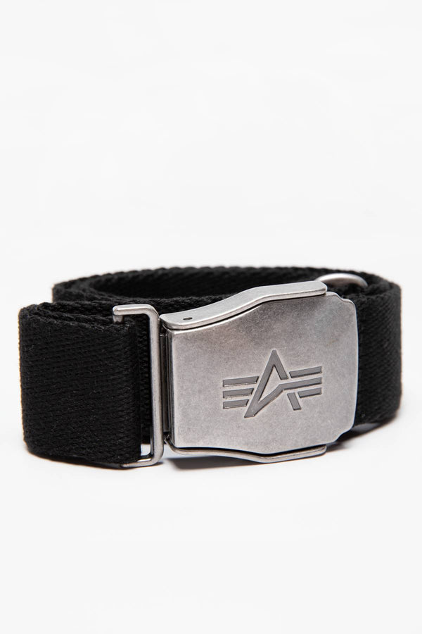 #00178  Alpha Industries accesorii, curea PASEK Buckle Belt 176908-03 BLACK
