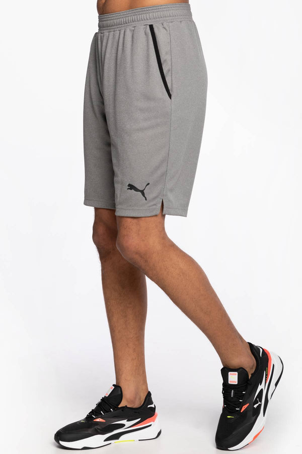 "#00037  Puma îmbrăcăminte, pantaloni SPODENKI RTG Interlock Shorts 10"" Medium Gray Hea 58583503 GREY"