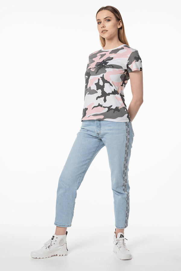 #00055  Alpha Industries tricou NEW CAMO BASIC T WMN 492 PINK CAMO