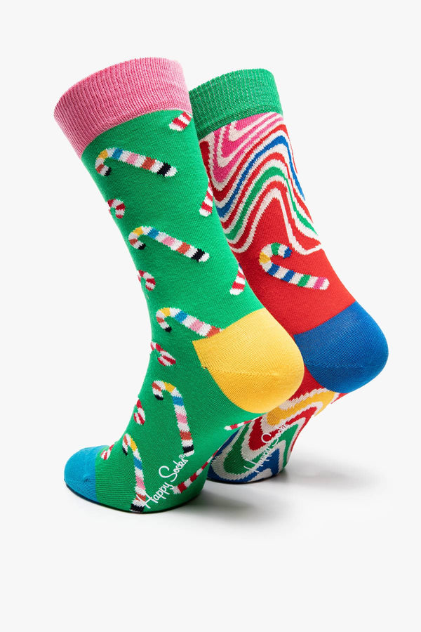 #00002  Happy Socks șosete 2-pak Psychedelic Candy Cane XCCA02-0100