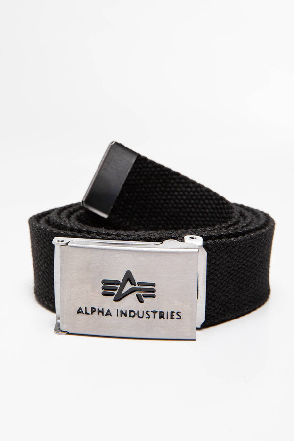 #00178  Alpha Industries accesorii, curea PASEK Big A Belt 176907-03 BLACK