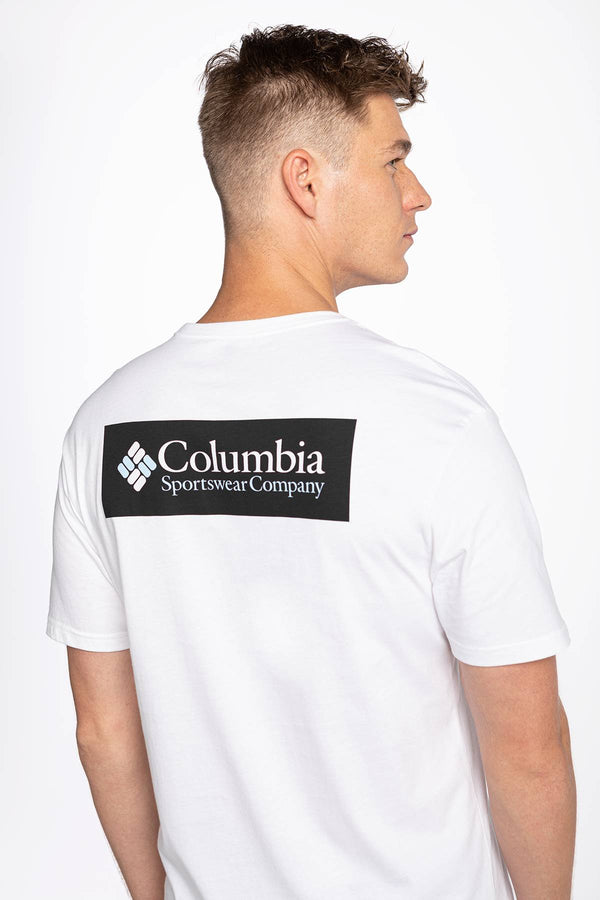 #00011  Columbia tricou North Cascades Short Sleeve Tee 041 WHITE
