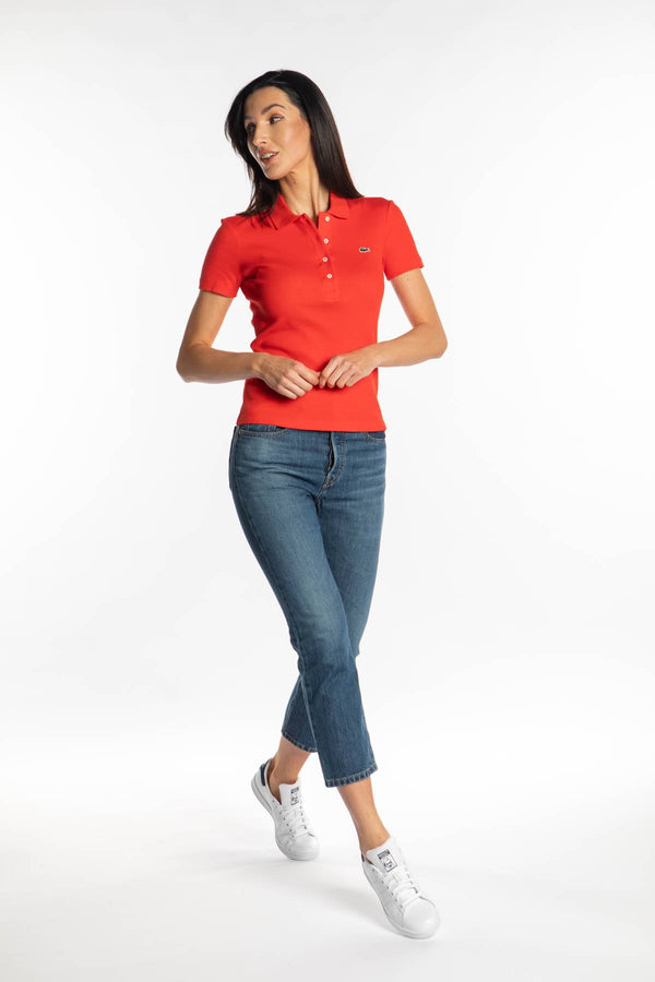 #00003  Lacoste tricou WOMEN POLO S5H RED