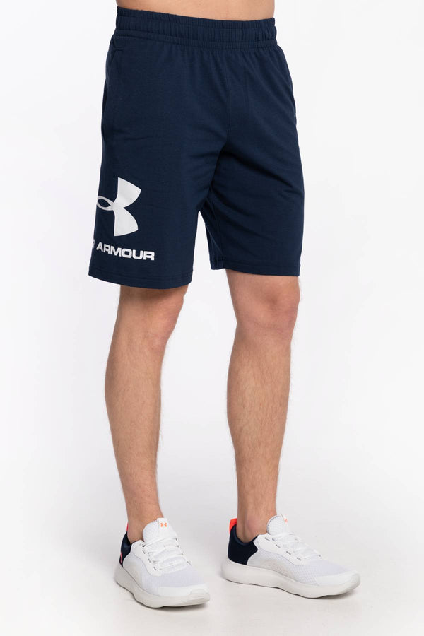 #00021  Under Armour îmbrăcăminte, pantaloni KRÓTKIE SPODENKI SPORTSTYLE COTTON LOGO SHORTS 1329300-408 NAVY