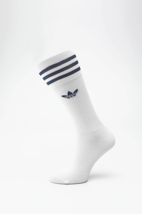 #00059  adidas șosete SOLID CREW SOCK 624 NIGHT MARINE/CLEAR SKY/WHITE
