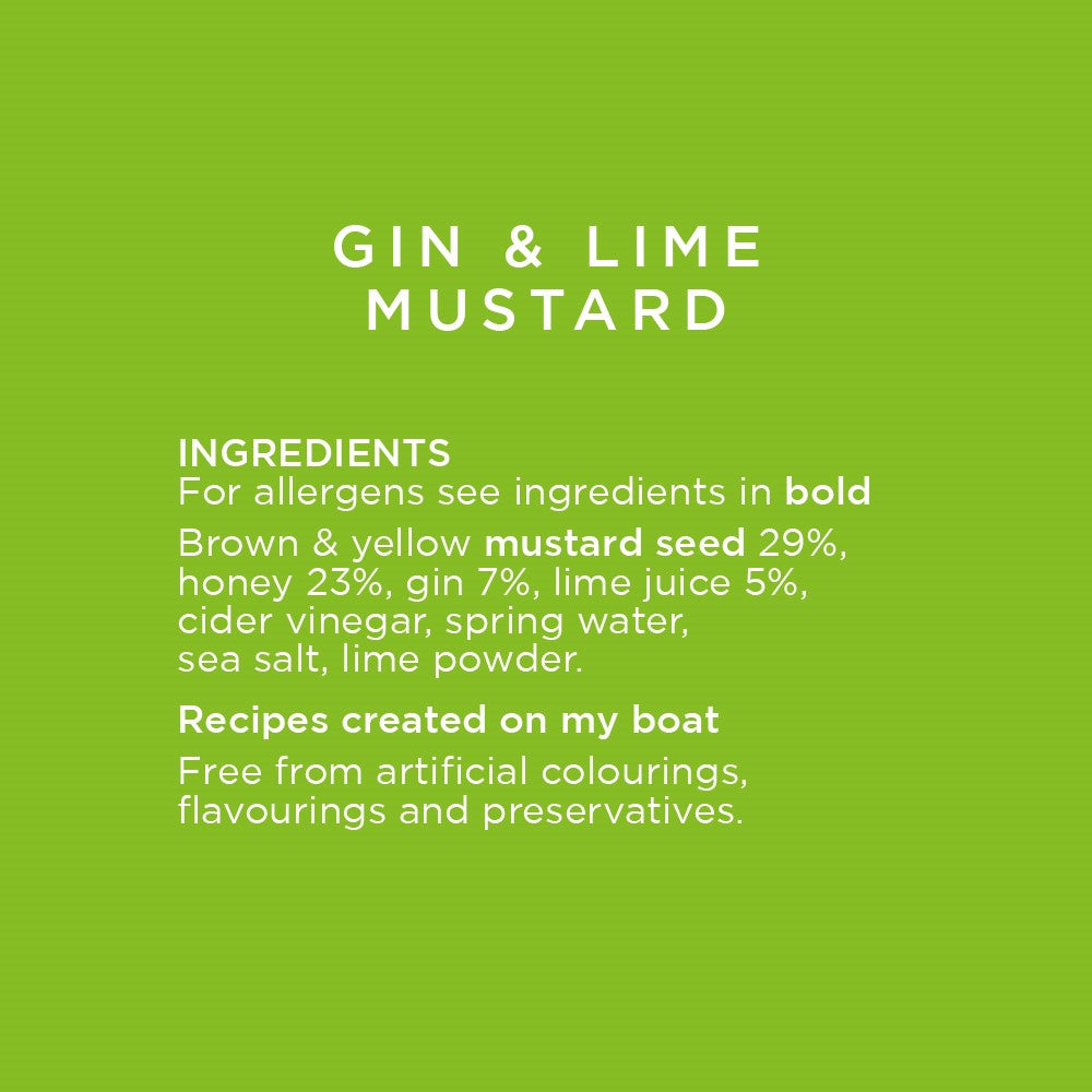 Gin and Lime Mustard