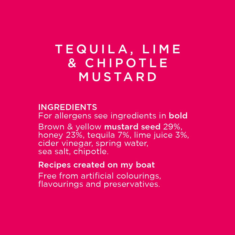 Tequila, Chipotle and Lime Mustard