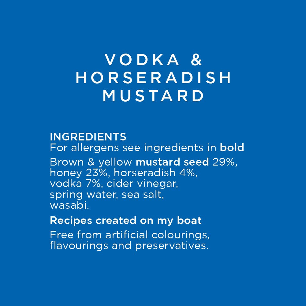 Vodka and Horseradish Mustard