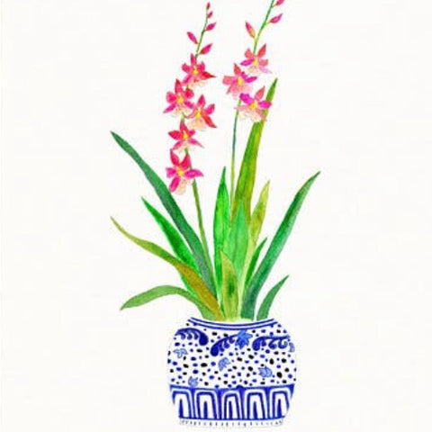 Ginger Jar Orchid Artwork