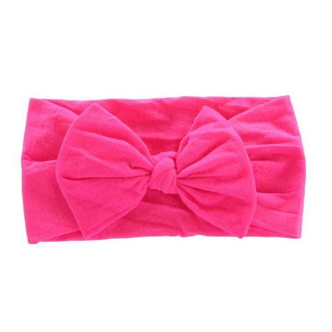 Hot Pink Bow Headwrap