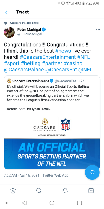 BEST NEWS EVER: Caesars Entertainment & NFL Partnership!