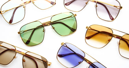 History Of Cartier: Vintage Cartier 18k Gold Sunglasses