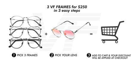 3 VF FRAMES FOR $250 IN 3 EASY STEPS