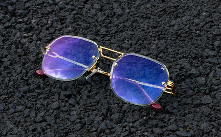 History Of Cartier: Vintage Cartier 18k Gold Rimless Madison Eyeglasses
